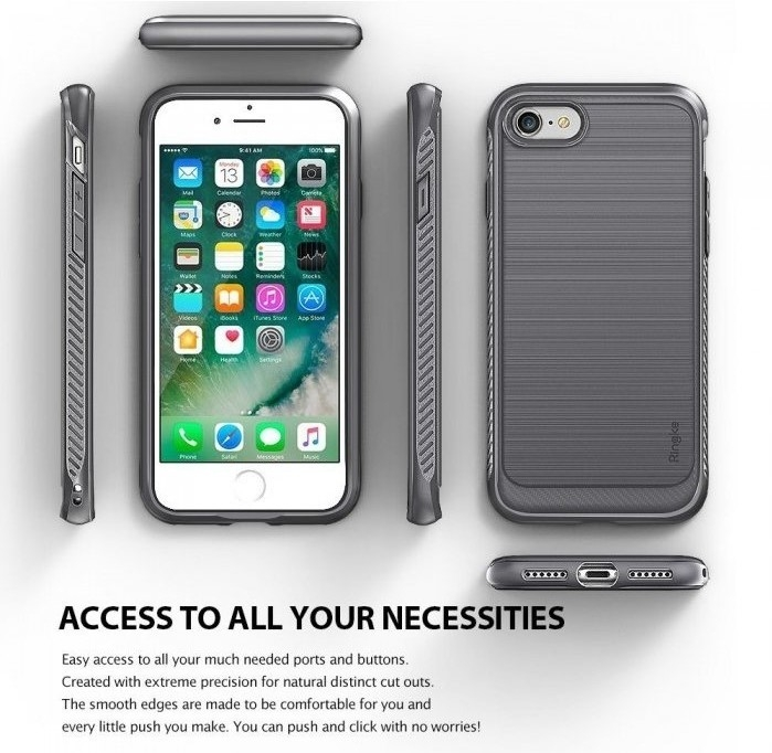 Husa Ringke ONYX BLACK pentru  iPhone 7  iPhone 8 2