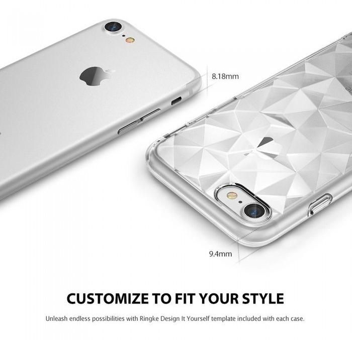 Husa Ringke PRISM SMOKE BLACK pentru iPhone 7  iPhone 8 2
