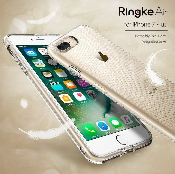 Husa Ringke AIR SMOKE BLACK + BONUS folie protectie display Ringke pentru iPhone 7 Plus / iPhone 8 Plus 6