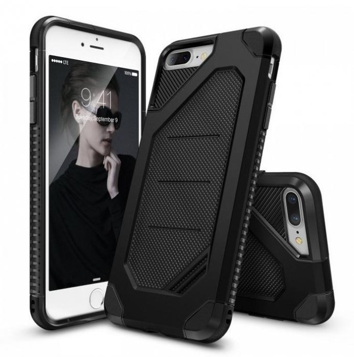Husa Ringke ARMOR MAX NEGRU + BONUS folie protectie display Ringke pentru iPhone 7 Plus / iPhone 8 Plus 0