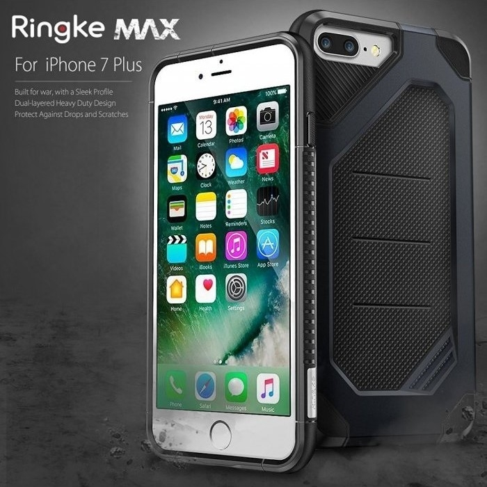 Husa Ringke ARMOR MAX NEGRU + BONUS folie protectie display Ringke pentru iPhone 7 Plus / iPhone 8 Plus 1