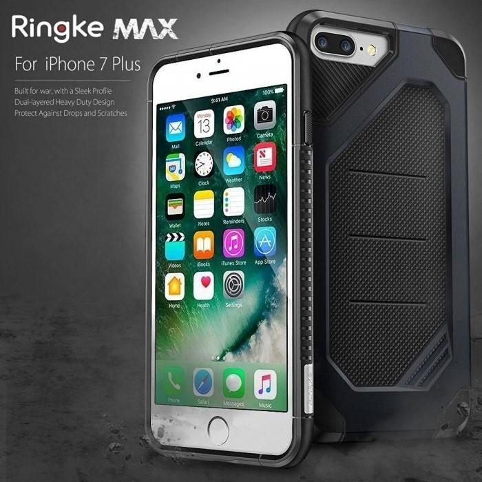 Husa Ringke ARMOR MAX SLATE METAL + BONUS folie protectie display Ringke pentru iPhone 7 Plus / iPhone 8 Plus 0
