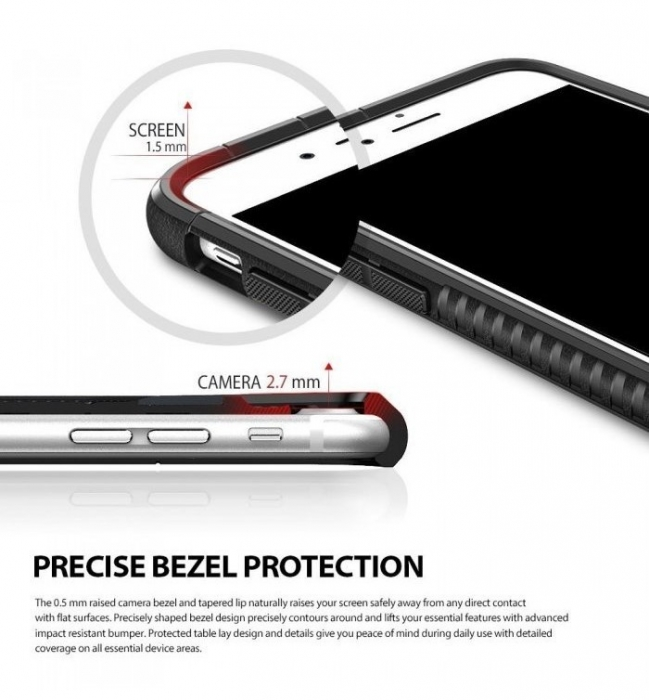 Husa Ringke ARMOR MAX BUMBLEBEE + BONUS folie protectie display Ringke pentru iPhone 7 Plus / iPhone 8 6