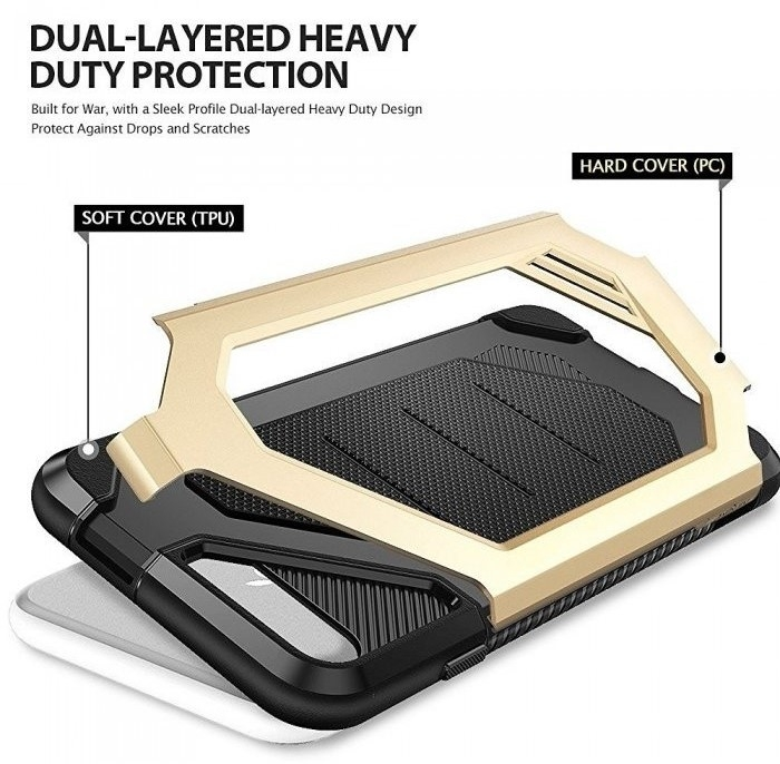 Husa Ringke ARMOR MAX ROYAL GOLD + BONUS folie protectie display Ringke pentru iPhone 7 Plus / iPhone 8 Plus 5