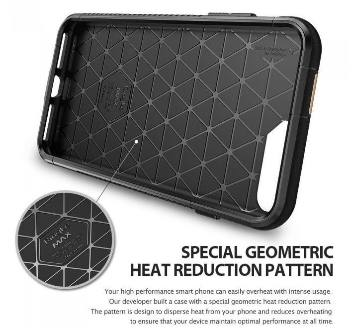 Husa Ringke ARMOR MAX BUMBLEBEE + BONUS folie protectie display Ringke pentru iPhone 7 Plus / iPhone 8 3