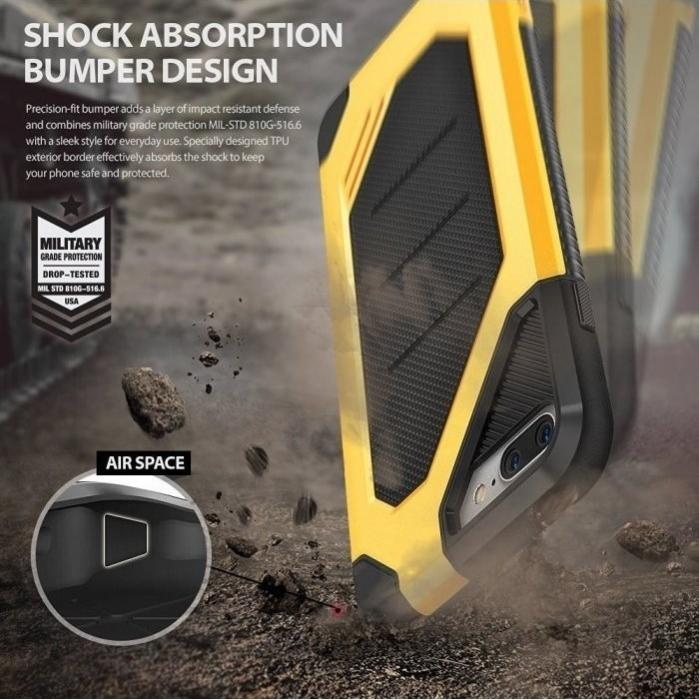Husa Ringke ARMOR MAX SLATE METAL + BONUS folie protectie display Ringke pentru iPhone 7 Plus / iPhone 8 Plus 5
