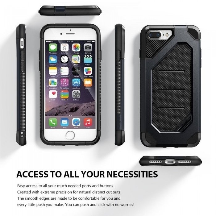 Husa Ringke ARMOR MAX SLATE METAL + BONUS folie protectie display Ringke pentru iPhone 7 Plus / iPhone 8 Plus 6