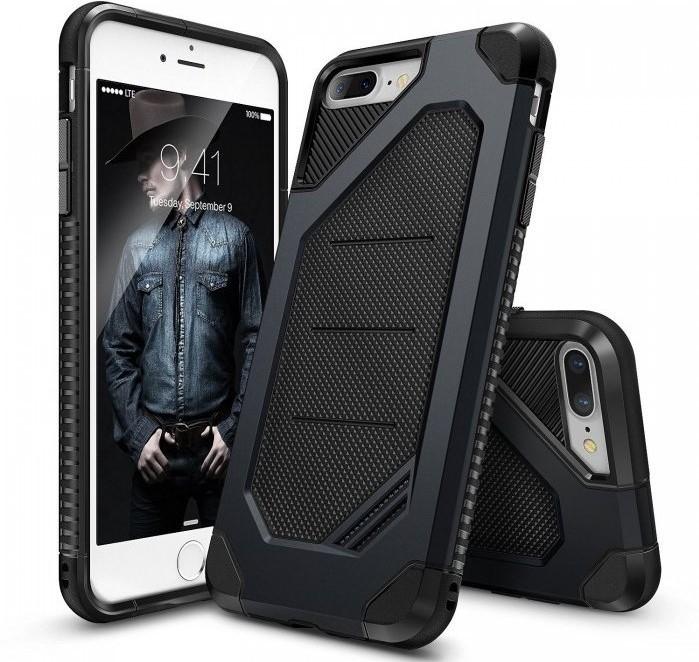 Husa Ringke ARMOR MAX SLATE METAL + BONUS folie protectie display Ringke pentru iPhone 7 Plus / iPhone 8 Plus 7