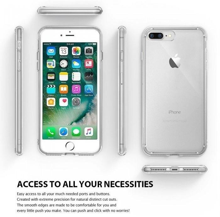 Husa Ringke FUSION ROSE GOLD + BONUS folie protectie display Ringke pentru iPhone 7 Plus / iPhone 8 Plus 5