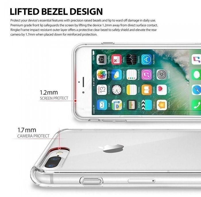Husa Ringke FUSION ROSE GOLD + BONUS folie protectie display Ringke pentru iPhone 7 Plus / iPhone 8 Plus 3