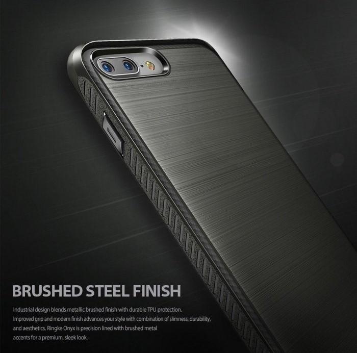 Husa Ringke ONYX MIST GRAY + BONUS folie protectie display Ringke pentru iPhone 7 Plus / iPhone 8 Plus 1