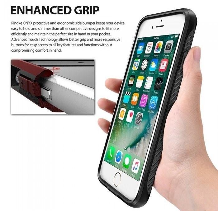 Husa Ringke ONYX MIST GRAY + BONUS folie protectie display Ringke pentru iPhone 7 Plus / iPhone 8 Plus 2