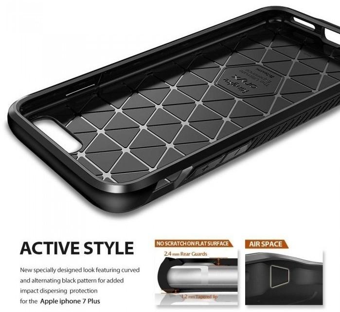 Husa Ringke ONYX MIST GRAY + BONUS folie protectie display Ringke pentru iPhone 7 Plus / iPhone 8 Plus 3