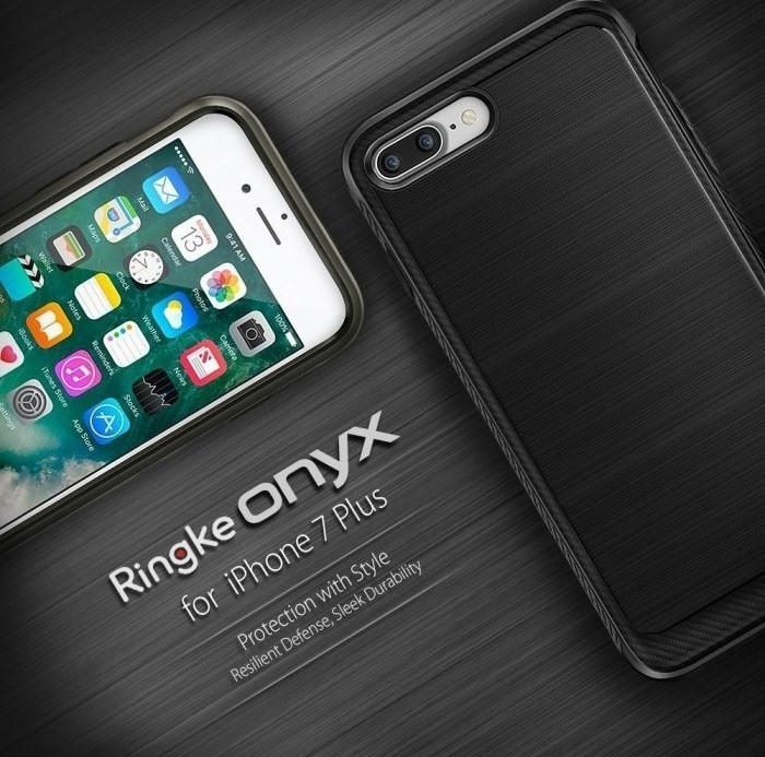 Husa Ringke ONYX MIST GRAY + BONUS folie protectie display Ringke pentru iPhone 7 Plus / iPhone 8 Plus 6