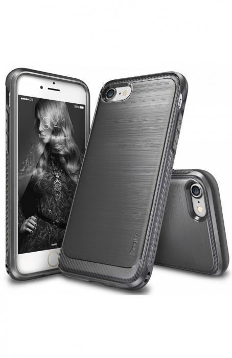 Husa Ringke ONYX MIST GRAY + BONUS folie protectie display Ringke pentru iPhone 7 Plus / iPhone 8 Plus 7