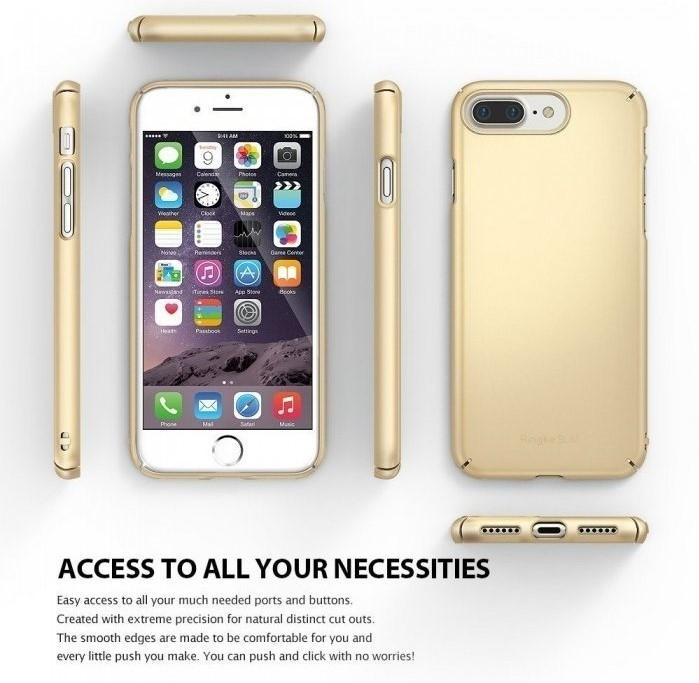 Husa Ringke Slim FROST GREY + BONUS folie protectie display Ringke pentru iPhone 7 Plus / iPhone 8 Plus 7