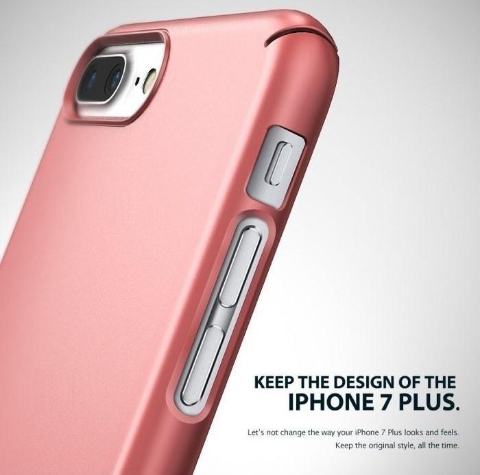 Husa Ringke Slim FROST GREY + BONUS folie protectie display Ringke pentru iPhone 7 Plus / iPhone 8 Plus 5