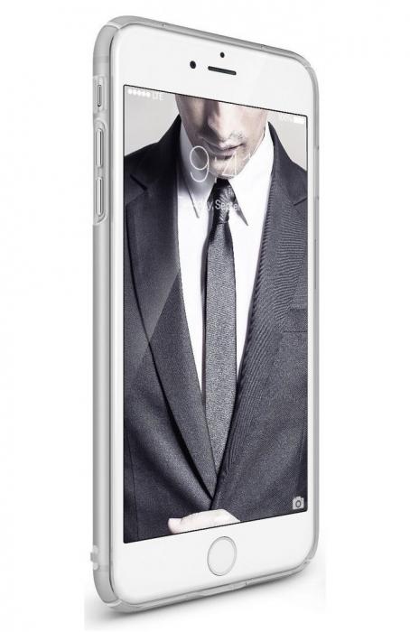 Husa Ringke Slim FROST GREY + BONUS folie protectie display Ringke pentru iPhone 7 Plus / iPhone 8 Plus 1