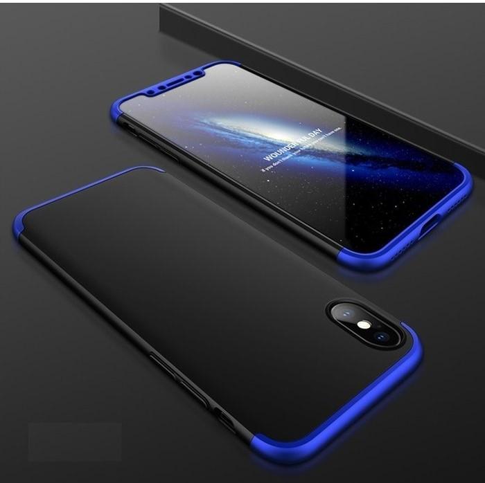 Husa iPhone X GKK 360 Logo Cut Albastru pentru iPhone X 1