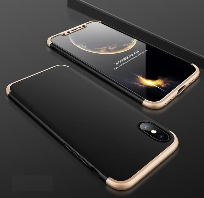 Husa iPhone X GKK 360 Logo Cut Auriu pentru iPhone X 1