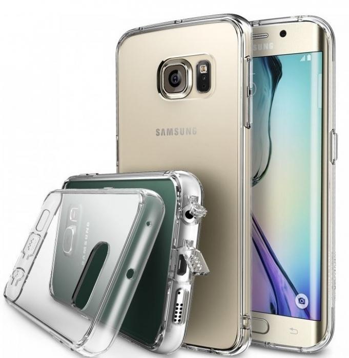 Husa Ringke FUSION CRYSTAL VIEW+BONUS folie protectie display Ringke pentru Samsung Galaxy S6 Edge 1