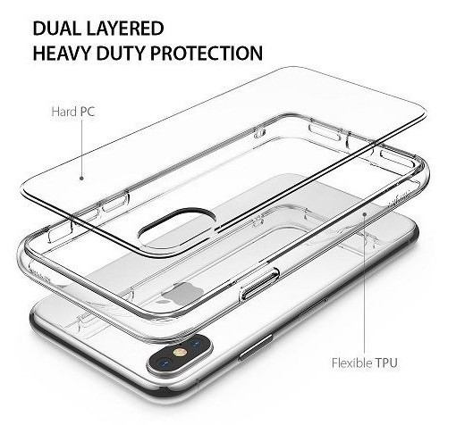Husa Ringke Fusion Clear pentru iPhone X 4