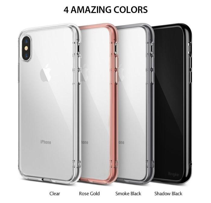 Husa Ringke Fusion Smoke Black pentru iPhone X 5