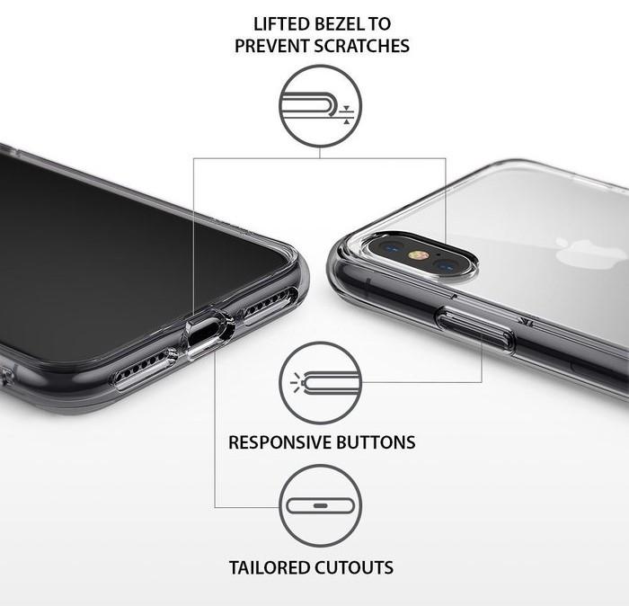 Husa Ringke Fusion Smoke Black pentru iPhone X 6