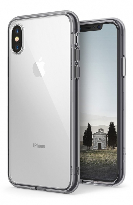 Husa Ringke Fusion Smoke Black pentru iPhone X 8