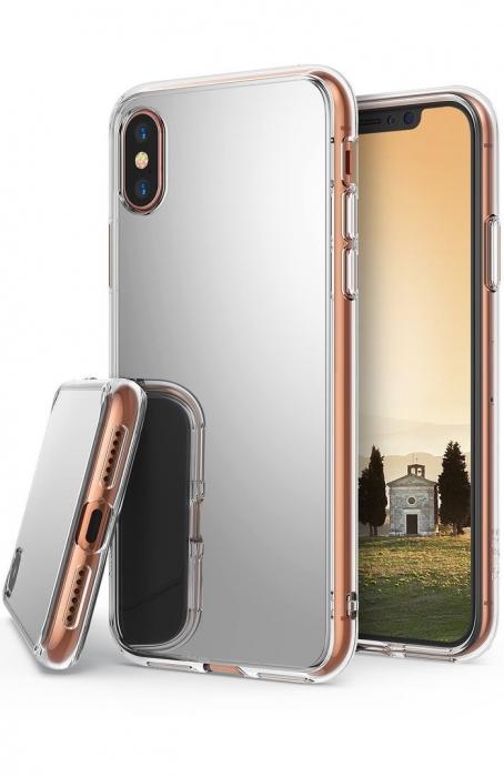 Husa Ringke Mirror Silver pentru iPhone X 5