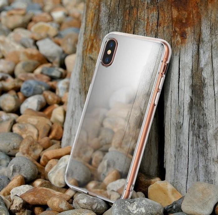 Husa Ringke Mirror Silver pentru iPhone X 6