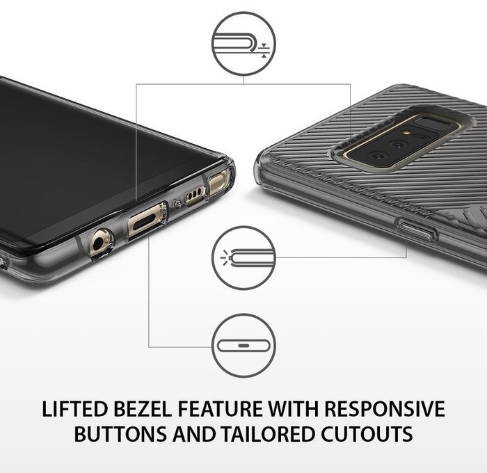 Husa Ringke Bevel Smoke Black pentru Samsung Galaxy Note 8 2