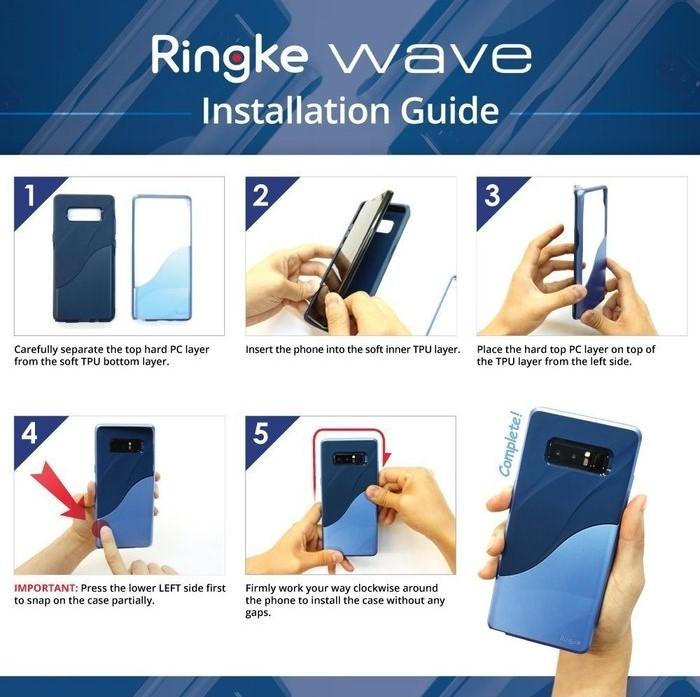 Husa Ringke Wave Charcoal Black pentru Samsung Galaxy Note 8 1