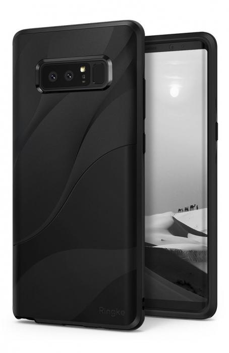 Husa Ringke Wave Charcoal Black pentru Samsung Galaxy Note 8 0