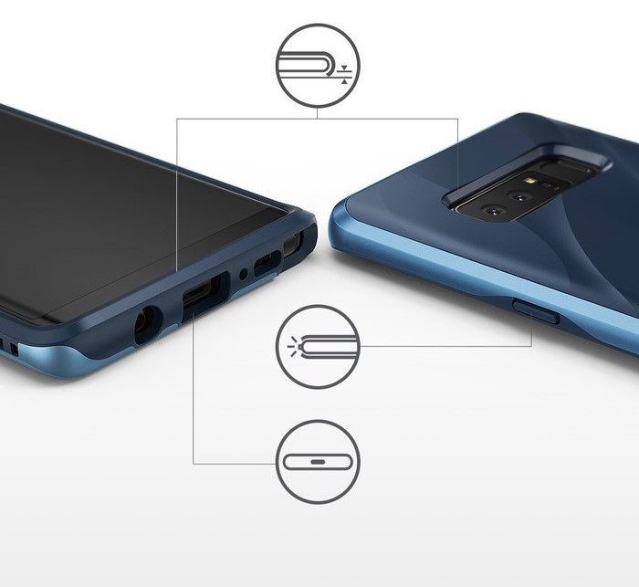 Husa Ringke Wave Coastal Blue pentru Samsung Galaxy Note 8 5