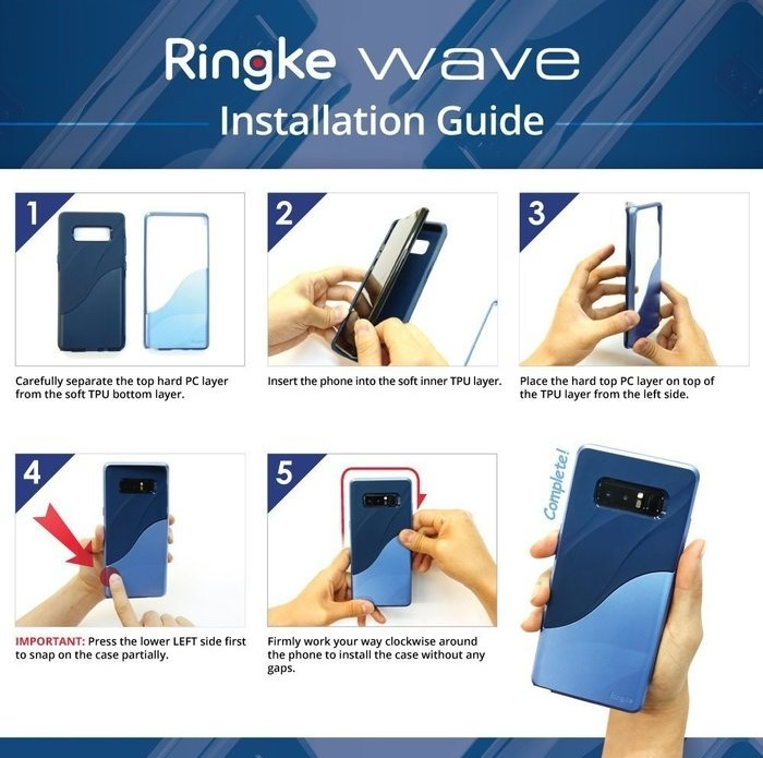 Husa Ringke Wave Coastal Blue pentru Samsung Galaxy Note 8 6