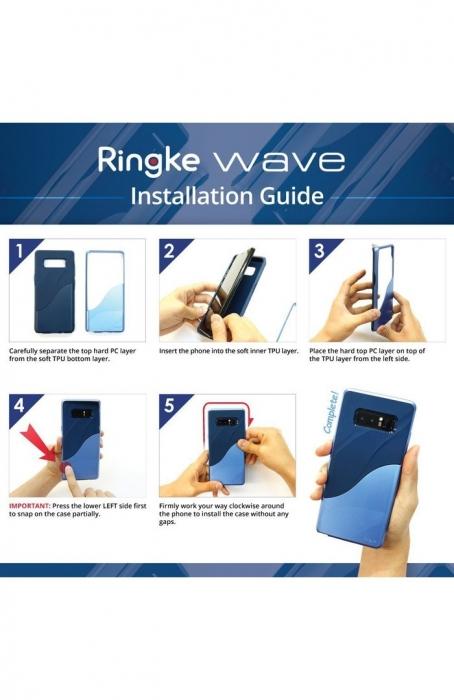 Husa Ringke Wave Metallic Chrome pentru Samsung Galaxy Note 8 6