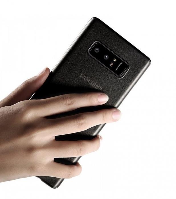 Husa Benks Lollipop NEGRU Semi-mat pentru Samsung Galaxy Note 8 3