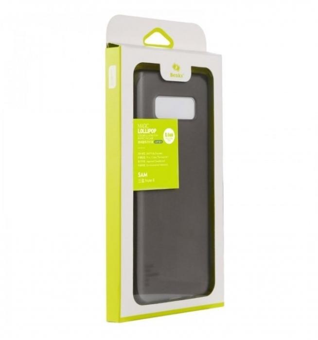 Husa Benks Lollipop NEGRU Semi-mat pentru Samsung Galaxy Note 8 4