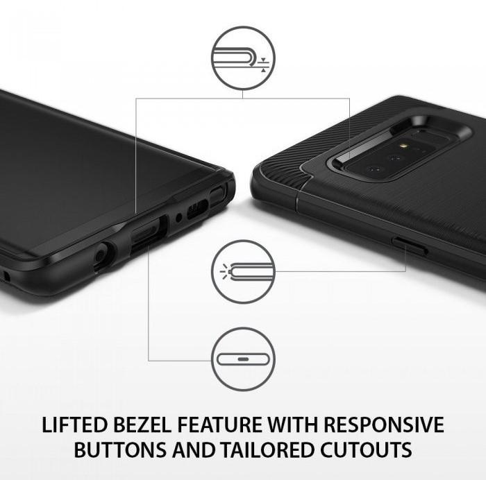 Husa Ringke ONYX BLACK pentru Samsung Galaxy Note 8 6