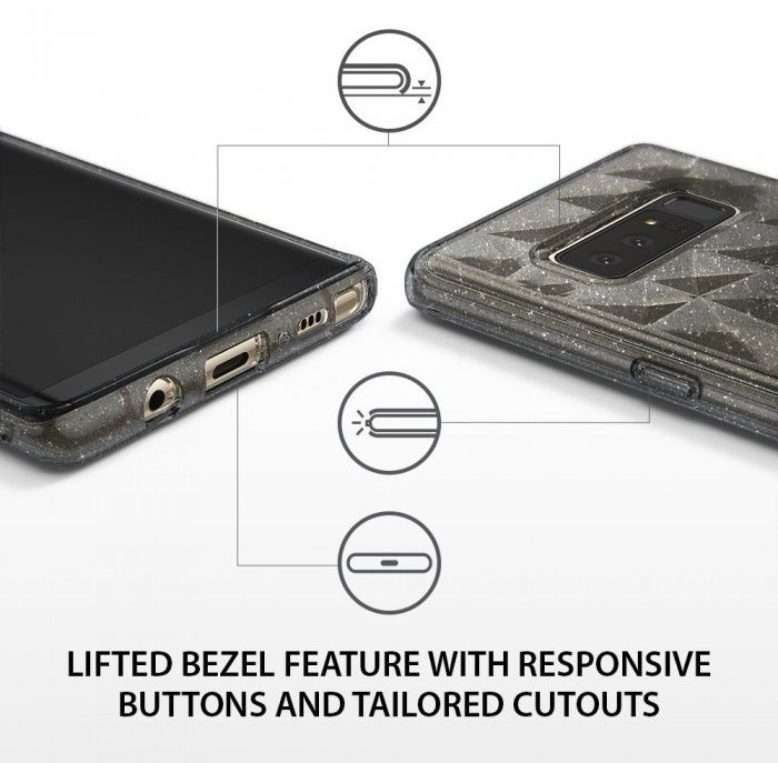 Husa Ringke Prism Glitter Gray pentru Samsung Galaxy Note 8 8