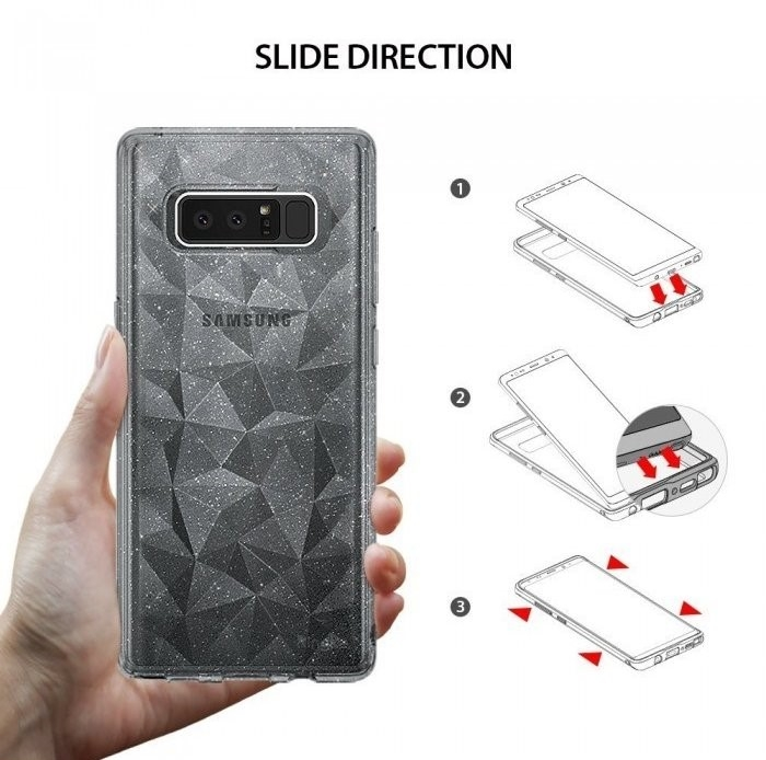 Husa Ringke Prism Glitter Gray pentru Samsung Galaxy Note 8 4