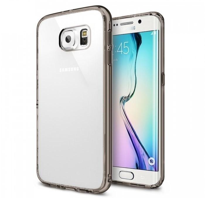 Husa Ringke FUSION Smoke Black + BONUS folie protectie display Ringke pentru Samsung Galaxy S6 Edge Plus 0