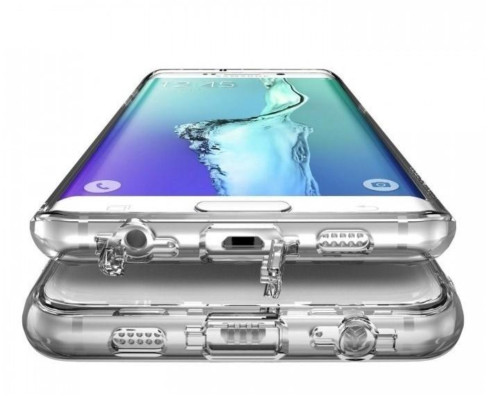 Husa Ringke FUSION Smoke Black + BONUS folie protectie display Ringke pentru Samsung Galaxy S6 Edge Plus 2