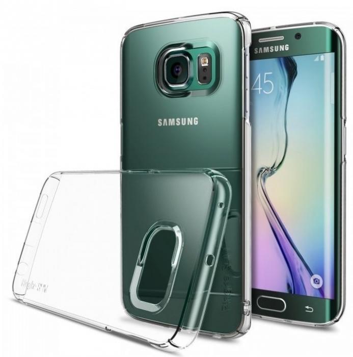 Husa Ringke SLIM CRYSTAL TRANSPARENT+BONUS folie protectie display Ringke pentru Samsung Galaxy S6 Edge Plus 2