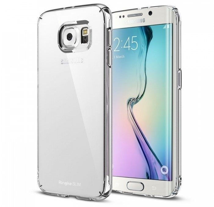 Husa Ringke SLIM CRYSTAL TRANSPARENT+BONUS folie protectie display Ringke pentru Samsung Galaxy S6 Edge Plus 0