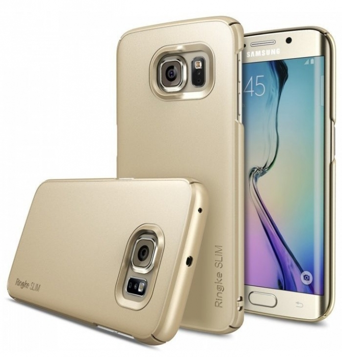 Husa Ringke SLIM ROYAL GOLD+BONUS folie protectie display Ringke pentru  Samsung Galaxy S6 Edge Plus 0