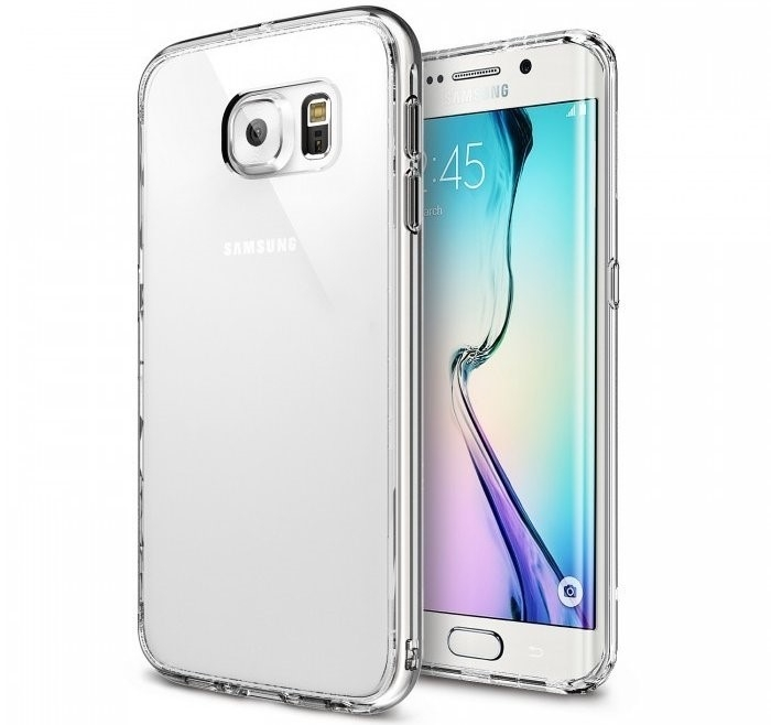 Husa Ringke FUSION CRYSTAL VIEW+BONUS folie protectie display Ringke pentru Samsung Galaxy S6 Edge 0