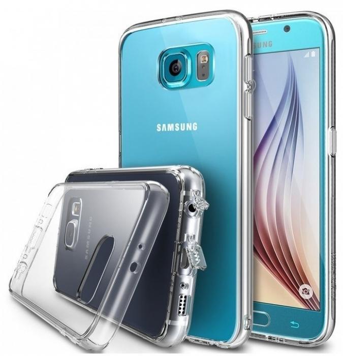 Husa Ringke FUSION CRYSTAL VIEW+BONUS folie protectie display Ringke pentru Samsung Galaxy S6 0