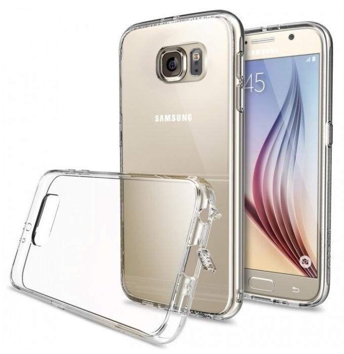 Husa Ringke FUSION CRYSTAL VIEW+BONUS folie protectie display Ringke pentru Samsung Galaxy S6 1